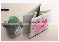 RO055 Square folding organic Children's toys cartoon bin cotton open Storage Basket  Drop shipping /Wholesale Free Shipping