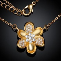 KZCN040-AB // Wholesale fashion Necklace, beautiful hot sale Factory Price Classic jewelry Chain gold plated Necklace