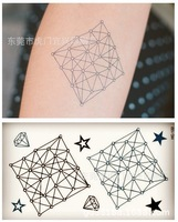 2014 new 4 sheets/set temporary Tattoos stickers diamond star waterproof body sticker for men and women free shipping wholesale