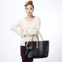 2014 winter new casual fashion handbags shoulder bag lady hit color cartoon wholesale free shipping