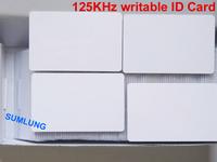 50pcs/lot 125KHz UID Writable RFID EM Proximity ID Cards ISO EM4100 and compatible for Access Control  Duplicate Copy Door Alarm