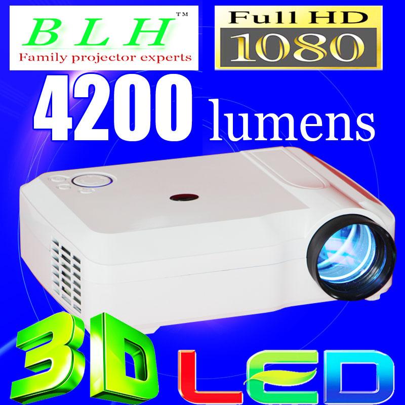 2014 Most Popular Video Cinema HDMI 4200lumens 1280x800 1080P LED TV 3D Mini HD BLH Projector Beamer Proyector(China (Mainland))