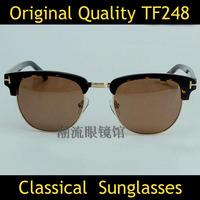 Hot Sunglasses Women Brand Designer Tom TF0343 Men Clubmaster Sunglasses Round Sun Glasses Half Rimless Sunglasses Oculos Gafas