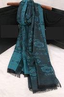 2014 New Brand Desigual Autumn Winter Scarf Letter Camellia Print Silk Scarf Foulard Women Shawls and Scarves Big Size 200*70cm
