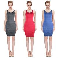 2014 Top Quality Cute Girl Three Color Vestide de festa HL Kim Kardashian Evening Party bandage dresses drop shipping