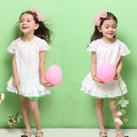 New Summer hot sale ! girls  Korean  cotton lace dress girls party lace dress 5pcs/lot