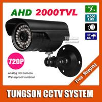 NEW 1MP 720P CCTV AHD Camera 2000TVL Outdoor Waterproof Bullet 36pcs leds Night Vision IR Security Surveillance With Bracket