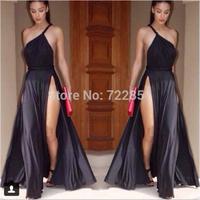 The NEW Condole belt  dress sexy nightclub dress single  shoulder dress chiffon dress  HHLOM0113 free shipping