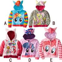 Retail My littl pony Kids Girls and boys jacket Children's Coat Cute Girls Coat, hoodies, girls Cotton Jacket children clothing
