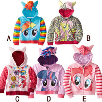 Retail My little pony Kids Girls and boys jacket Children's Coat Cute Girls Coat, hoodies, girls Cotton Jacket children clothing