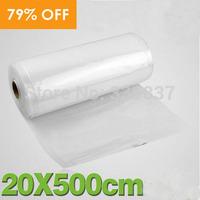 20*500cm Single Side Webbing Texture Vacuum Packing Bags fo Food Storage 1 Roll