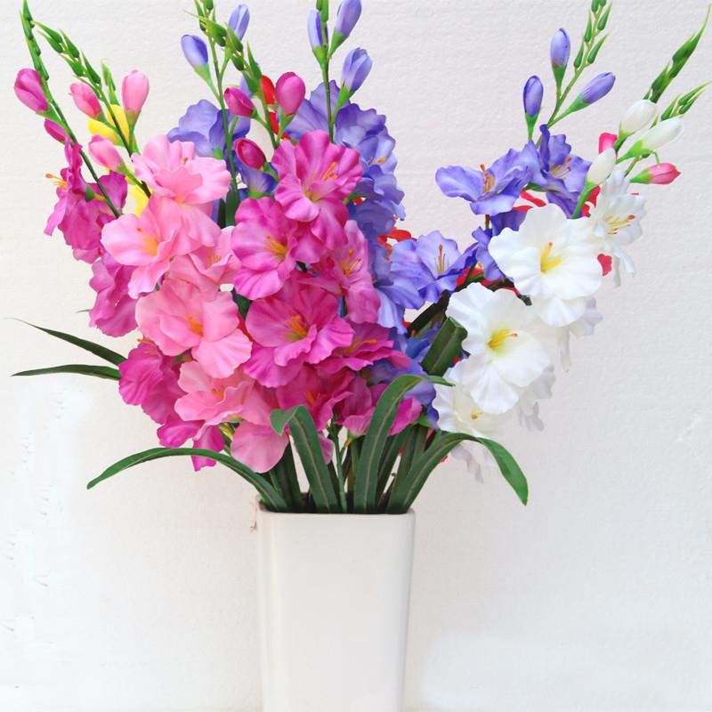 Online Get Cheap Gladiolus Silk Flowers Alibaba