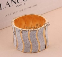 Free shipping!!!Zinc Alloy Bangle Jewelry,Statement Jewelry, gold color plated, colorful powder, nickel, lead & cadmium free