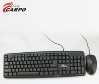 F11004 CARPO T500 Wired Combo PS/2 Interface Optical Mouse + 104 Keys Gaming Keyboard for Desktop Computer PC + FreePost