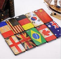 Discount Fashion Retro Flag case for iphone 4s smart hard plastic back case for iphone 4 DHL Drop Ship wholesale 100 pcs/lot
