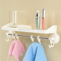 Wholesale!Multipurpose wall hanger for bathroom,bath towel organizer hook,toothbrush cup storage shelf,washing room tools