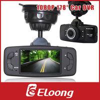 Eloong 1080P 178 Degree Car DVR Vehicle Camera Driving Recorder GPS G-sensor H.264 Motion Detection IR Night Vision P076