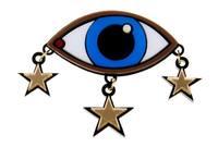 Tidal range of exclusive custom designer eye star brooch unisex