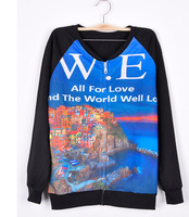 New Women fashion All for love sweatershirt long sleeve hoodies