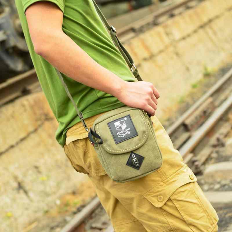 Diagonal flow poor outdoor canvas shoulder man bag Messenger bag casual mens satchel(China (Mainland))