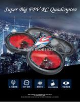 WLtoys V666 5.8G FPV 6 Axis 4CH RC Quadcopter With HD Camera and Monitor RTF VS Wltoys V262 Cheerson CX20 DJI Phantom 2