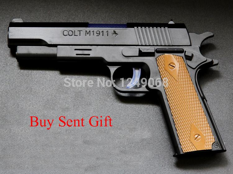 High Quality Brand Nerf Children Toy Gun Colt M1911 Props Toy Gun Sound And Light Revolver(China (Mainland))