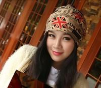 Free shipping 1pcs 100% cotton 2014 New Cartoon Empty Caps Hair Band Winter Autumn Women Knitted Warm Hats Men Beanies 7 Colors