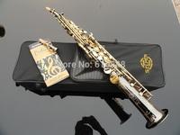 Very good gift straight soprano saxophone 80th Anniversary Henry Reference 54 black nickel gold