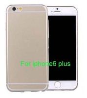 New 5.5 inch Ultra Thin 0.3 mm Clear Back Cover For iphone 6 Plus Case Transparent TPU Soft Case For iphone6 Plus