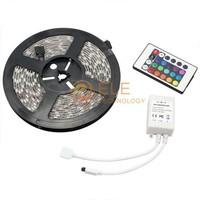 Led Strip 3528 SMD 5M Fiexible light + 24Key IR Remote Controller Led RGB Tape Christmas decoration rgb led Strip light