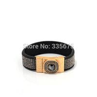 NEW Fahion leather bangle,magnetic bracelet bangle with bling bling crystal,unique designed leather bracelet and bangle whole