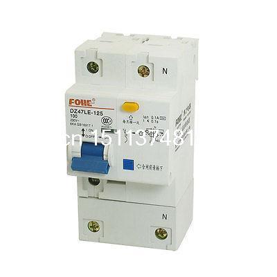 Ac 230 V 100 Amp 6KA 1 P 1 P + N miniatura disjuntor DIN Rail DZ47LE-125(China (Mainland))