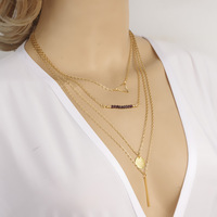 2014 new arrival women fashion design Multilayer necklaces warehouse and retail