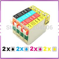 8 ink cartridge Compatible for epson Printer Stylus  BX600FW  BX610FW BX300F SX415  SX610FW  SX410 SX200 T0711-T0714 711