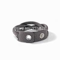 Braided leather wrap bracelet,wrap Bracelets,single wrapped bracelets with biling bling full crystal armband