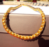 Men twin channel 14k Gold-Filled French Rope Chain Real Heavy Plated Necklace free shipping