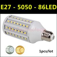 2014 High brightness energy-saving LED Lamp SMD 5050 E27 15W AC 220V-240V 86led Warm White/White Corn Bulbs Christmas Lights