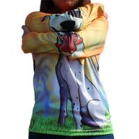 boys hoodies 3 d design stitching dinosaurs and dog girls clothing girls sweatshirt
