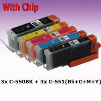 15 ink cartridge ( 3set ) compatible PGI-550 BK CLI-551 for canon Printer Pixma MX925 MX725 MG5450 MG5550 MG6350 MG6450 IP7250