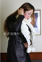 Wholesale Lovely Fashion Ball Long Knitting Wool Scarf Women Scarf W12 Solid Pattern 4Colors Free Shipping