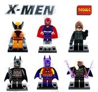 Decool 60pcs Building Blocks Super Heroes The Avengers Action figures Minifigures Magneto Storm Catwoman X-Man Bataman Figures