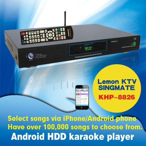 8826(#2) Android Hard Disk karaoke machine with HDMI 1080P , phone Support large capacity hard drive ,Multilingual MENU(China (Mainland))