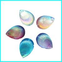 Shell Rhinestone Flat Back Gemstone 25*18mm 100pcs/lot Accept Mix Color With 2 Hole Stone Rhinestone For Garment