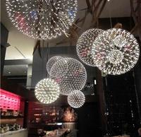 Fireworks Fireworks chandelier modern minimalist stainless steel ball chandelier chandelier creative LED chandelier