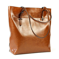 2014 New hot Vintage Oil Genuine leather women messenger bag Casual and simple women tote handbag WH173