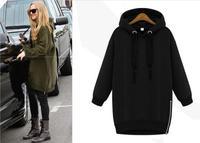 2014 Women Hoody Fashion Fleece Pullovers Female Autumn Winter Coat Long Sleeve Sweatshirts Plus Size Lady Loose Outwear Zipper
