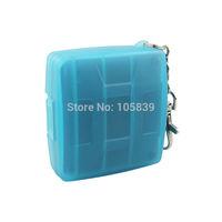 MC-U6B Waterproof Anti-shock Memory Card Case Hard Storage 2x CF + 4x SD GBW Blue
