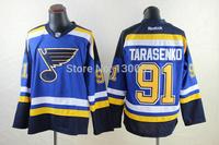 Free Shipping Men's Hockey Jersey St. Louis Blues Jersey #1 Dark Elliott Ice Hockey Jersey Embroidery Logos Jersey