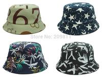 men  women hip hop fishing caps print star summer sun protection bucket hats