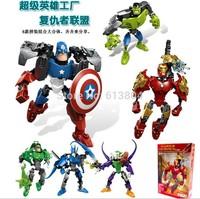 New 2014 Genuine 25cm The Avengers Model Captain America ironman Hulk Batman model Green Lantern heroes  model Toy for Kid